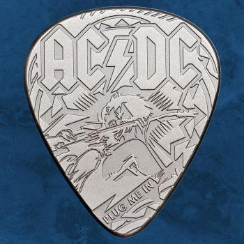 Cook Islands - AC/DC – Guitar Pick Plug me in - 2 $ 2019 Antique - Silber - ACDC