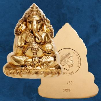 Cook Islands - Lord Ganesha - 20 $ 2019 Silk finish - Silber