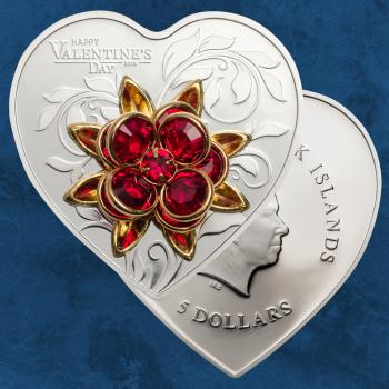 Cook Islands - Valentine's Day 2019 - 5 $ 2019 PP / Proof - Silber - Valentinstag