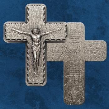 Crucifix - Silber 2 Unzen Antique finish - Silbernes Kreuz