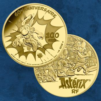 Frankreich - 60 Jahre Asterix - 100 Euro 2019 PP Gold - Proof