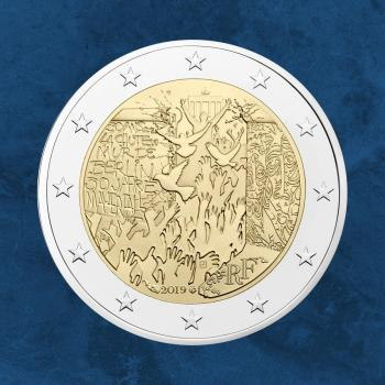 Frankreich - 30 Jahre Mauerfall Berlin - 2 Euro 2019 unc. - Fall of Berlin Wall