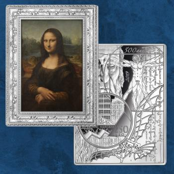 Frankreich - Masterpieces Museum - Mona Lisa - 250 Euro 2019 PP Silber