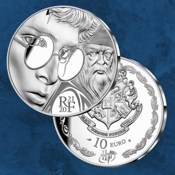 Frankreich - Harry Potter - 10 Euro 2021 Silber PP
