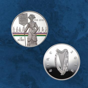 Irland - Women's Right to Vote - 15 Euro 2018 PP - Silber - Frauenwahlrechte