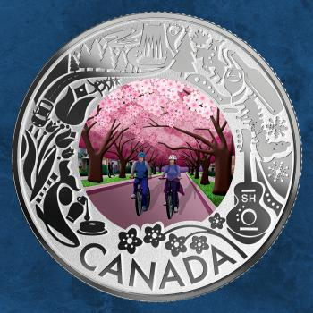 Kanada - Cherry Blossoms: Celebrating Fun and Festivities - 3 $ 2019 PP Silber