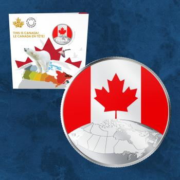 Kanada - This is Canada! - Glow in the dark - 5$ 2019 BU Silber