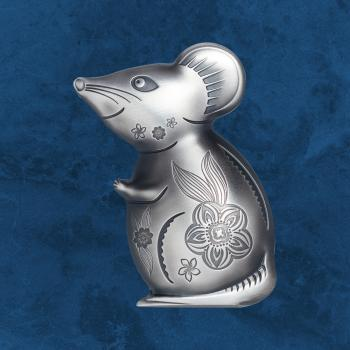 Mongolei - Witty Silver Mouse - 1000 Togrog 2020 Antique Finish - Silber - Maus