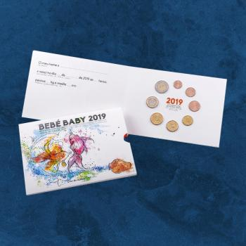 Portugal - Baby - KMS 2019 BU / FDC - 3,88 Euro - 1 Cent - 2 Euro