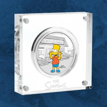 Tuvalu - Die Simpsons™ - Bart - 1 $ 2019 PP / Polierte Platte - Silber - The Simpsons
