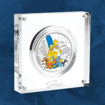 Tuvalu - Die Simpsons™ - Familie - 2 $ 2019 PP Silber - The Simpsons ™ 2 oz