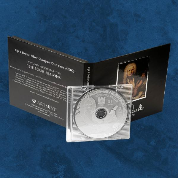 Fiji - Antonio Vivaldi - 1 $ 2018 - Silber PP - Spielbare CD - The four Seasons
