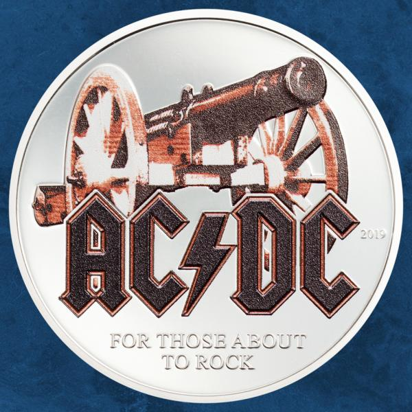 Cook Islands - AC/DC – For Those About to Rock - 2 $ 2019 Proof - Silber - ACDC
