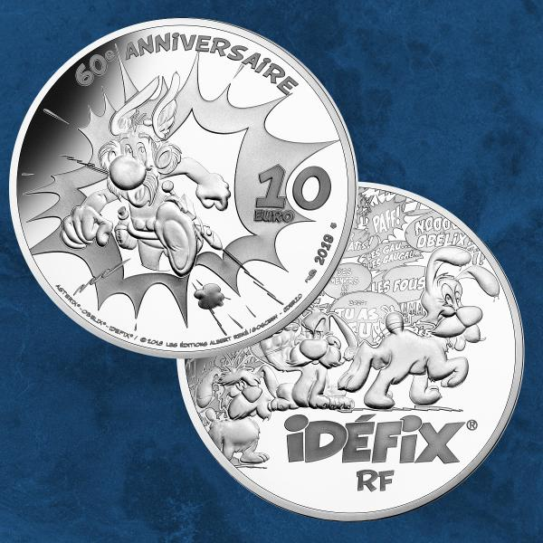 Frankreich - 60 Jahre Asterix - 10 Euro 2019 PP Silber - Proof Silver