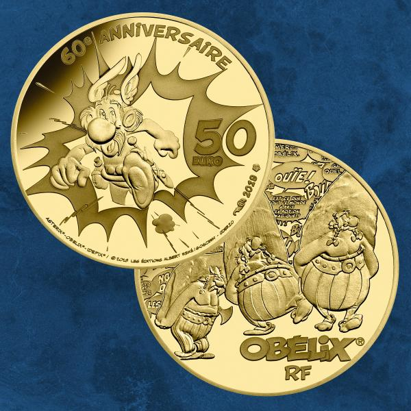Frankreich - 60 Jahre Asterix - 50 Euro 2019 PP Gold - Proof