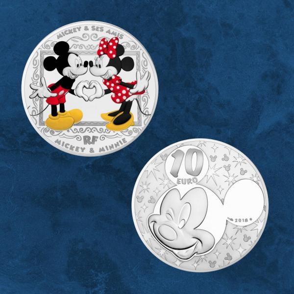 Frankreich - Disney Mickey and friends - 10 Euro 2018 PP Silber Mickey & Minnie