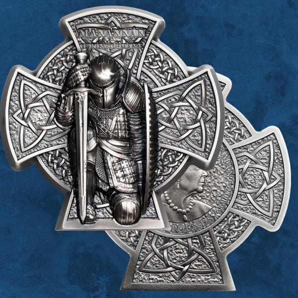 Isle of Man - Manannan – 1st King of Mann - 5 £ 2019 Antique finish - Silber