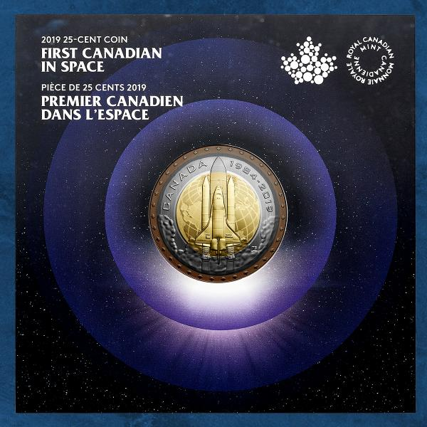 Kanada - First Canadian in Space - 25 Cents 2019 BU - CU/NI Coincard