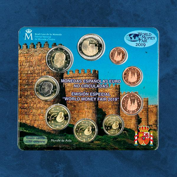 Spanien - World Money Fair - KMS 2019 BU - 5,88 Euro - 1 Cent - 2 X 2 Euro